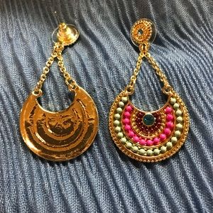 Jewelry - NEW Boho Ethnic Multicolor Dangle Post Earrings